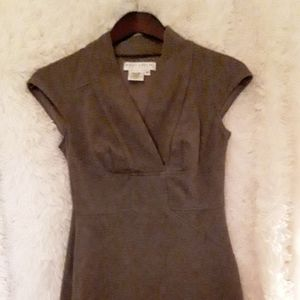 Brown pencil dress